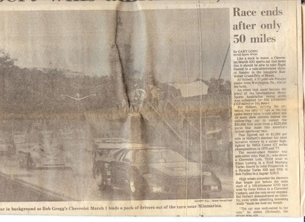 Miami GP 1983 Newspaper